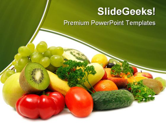 Fruits and vegetables food powerpoint backgrounds and templates 1210 toneelgroepblik Choice Image