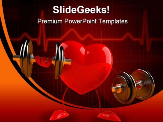 fun heart science powerpoint template 0610, Modern powerpoint