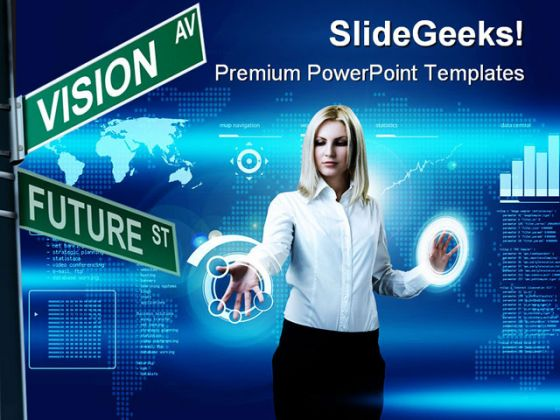 Future Vision Business PowerPoint Template 0510