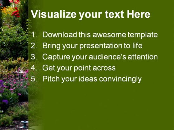 Garden Nature PowerPoint Template 0610