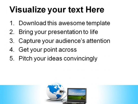 Global Communication Computer PowerPoint Templates And PowerPoint Backgrounds 0411