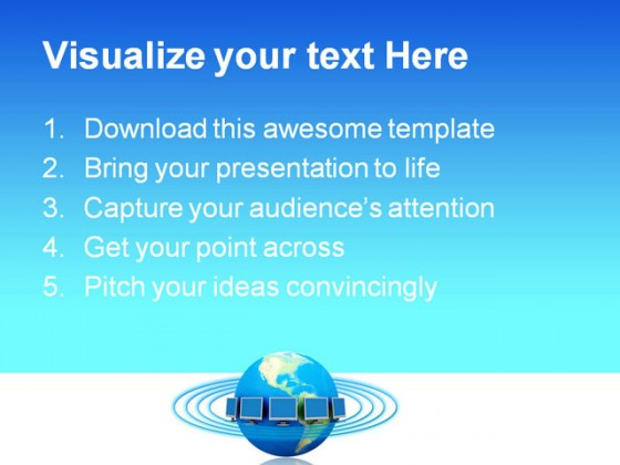 network concept communication powerpoint templates and powerpoint, Modern powerpoint