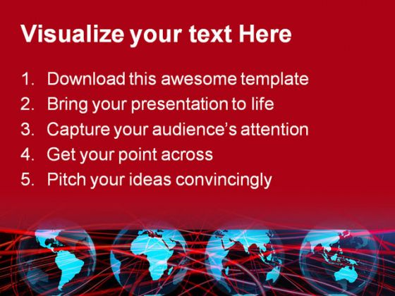 Global Networking Abstract PowerPoint Template 0810