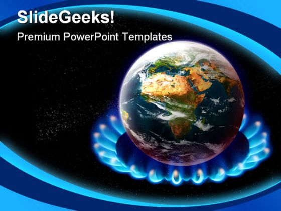 Global Warming Science PowerPoint Template 0610