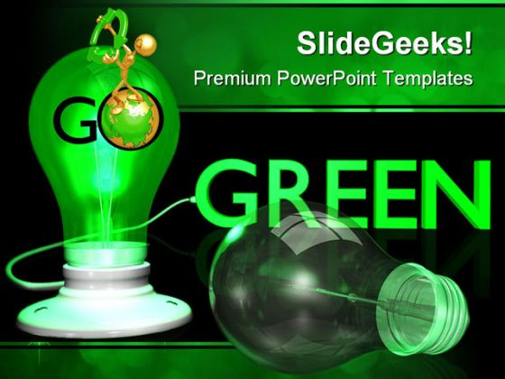 Go Green Earth PowerPoint Template 0510