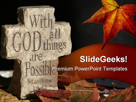 God Religion PowerPoint Template 0610