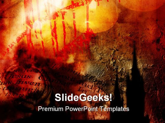 gothic abstract religion powerpoint backgrounds and templates 1210, Powerpoint templates