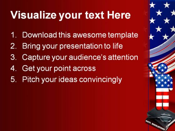 government regulations america powerpoint template 0610