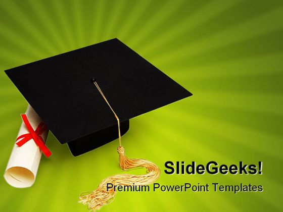 graduation education powerpoint backgrounds and templates 1210, Modern powerpoint