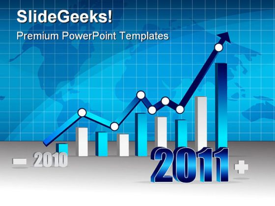Graph 2011 Business PowerPoint Template 0810