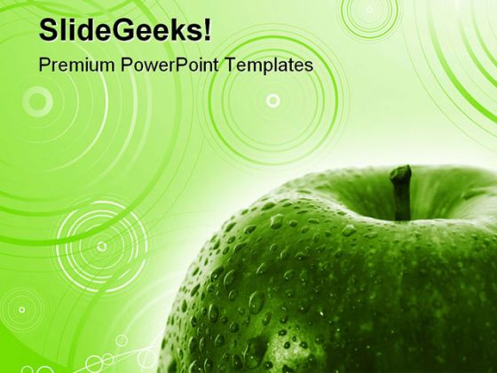 Green Apple Food Powerpoint Template 0810