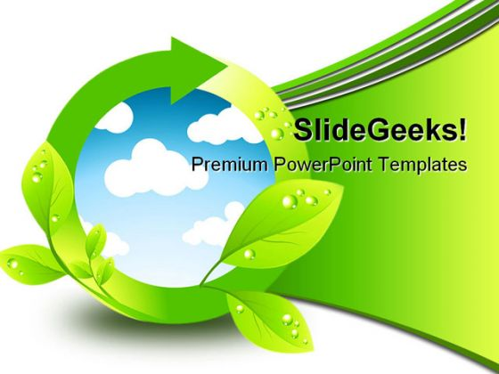 Green Environment Element Nature PowerPoint Background And Template 1210