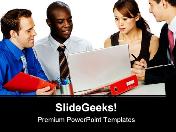 Group Of Professionals Business PowerPoint Template 1110