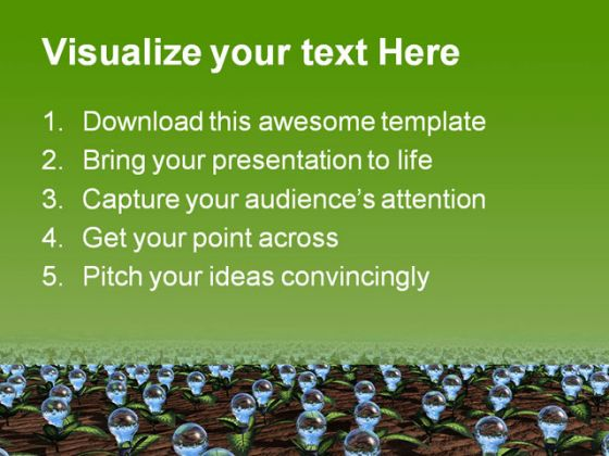 Growing Ideas Business PowerPoint Template 0910