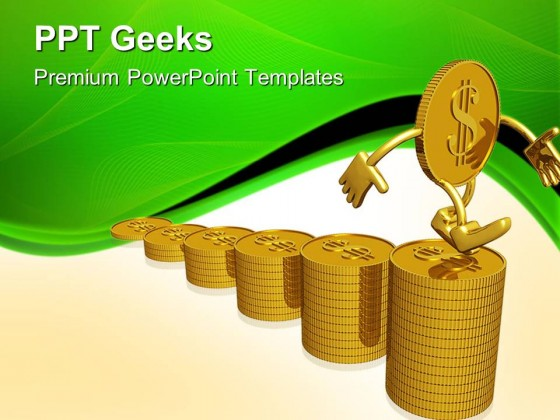 Growth Of Dollar Finance PowerPoint Templates And PowerPoint Backgrounds 0411