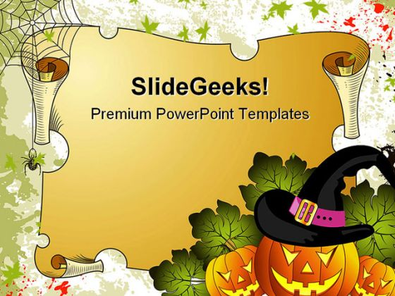 halloween holidays powerpoint template 1010, Modern powerpoint