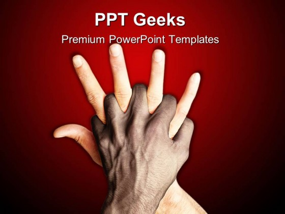 Hand Mix People PowerPoint Templates And PowerPoint Backgrounds 0411