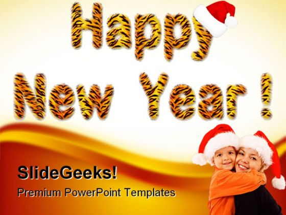 Happy New Year 2011 Festival PowerPoint Backgrounds And Templates 1210