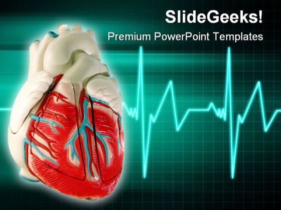 Healthy Heart Medical PowerPoint Template 0610