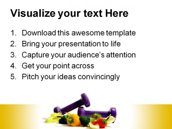 Healthy Resolution Food Powerpoint Templates And Powerpoint