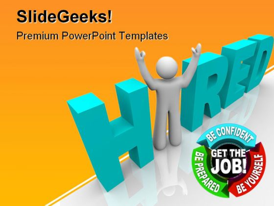 Hired People PowerPoint Template 0810