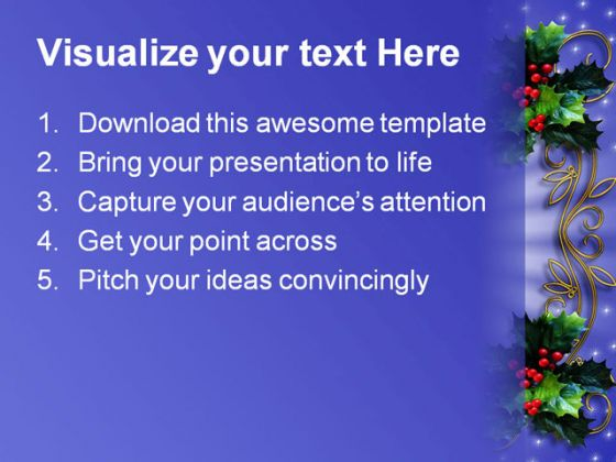 Border Christmas Powerpoint Template 0610