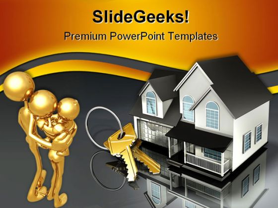 House And Keys Security PowerPoint Backgrounds And Templates 1210