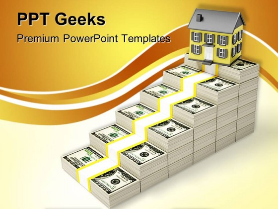 Houses Prices Rises Real Estate PowerPoint Templates And PowerPoint Backgrounds 0411