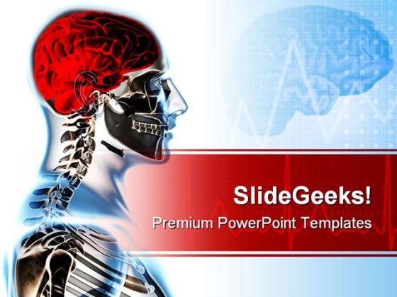 Human Skeleton Science PowerPoint Template 0610 – Science Powerpoint Template