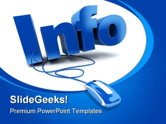 Info Internet Computer Powerpoint Template 0810