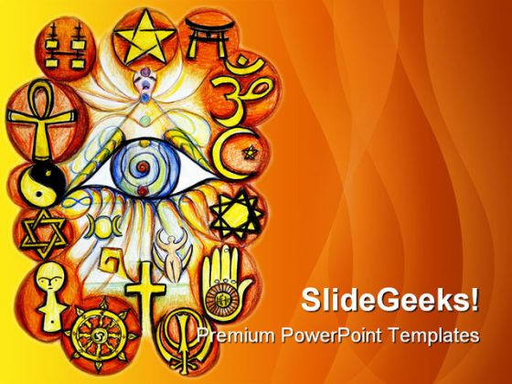 interfaith religion powerpoint template 0610, Modern powerpoint