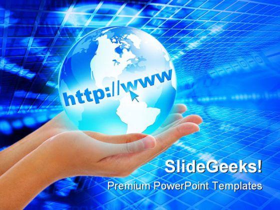 internet concept globe powerpoint template, Powerpoint