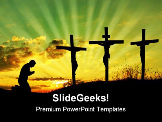 Jesus pray religion powerpoint template 0610 toneelgroepblik Image collections