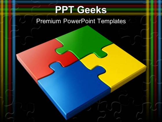 Jigsaw Puzzles Business PowerPoint Templates And PowerPoint Backgrounds 0411