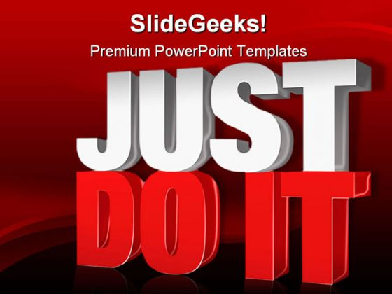 Just Do It People PowerPoint Template 0910