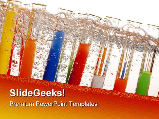 Laboratory Flasks Science PowerPoint Template 0610 – Science Powerpoint Template