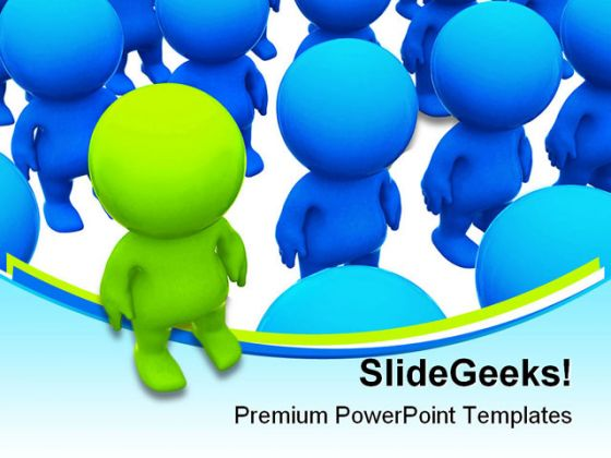 Leader Business Powerpoint Template 0910