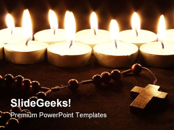 Light Candel Religion PowerPoint Backgrounds And Templates 1210