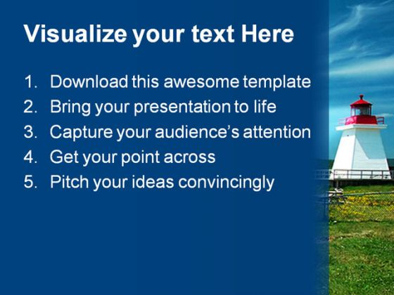 Light House Travel PowerPoint Backgrounds And Templates 1210
