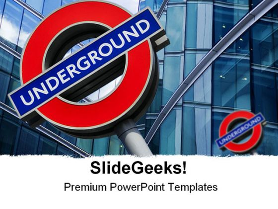London Underground Travel PowerPoint Template 0910