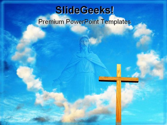 Love Clouds Religion PowerPoint Template 0610