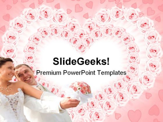 love couple wedding powerpoint template 0610, Powerpoint templates