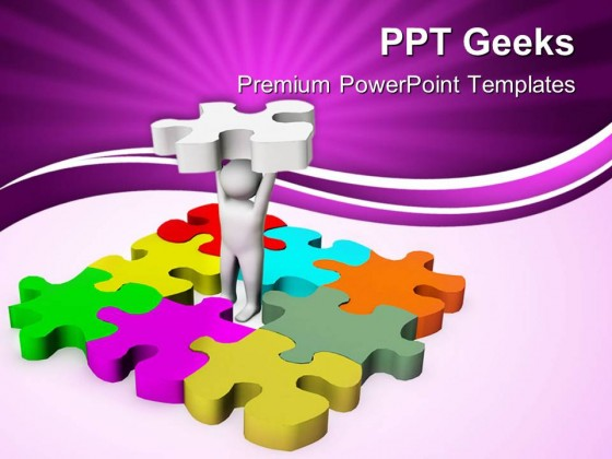 Man With Last Puzzle Business Powerpoint Templates And Powerpoint