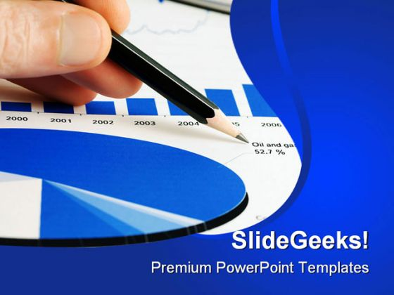 Market Graph Business PowerPoint Template 0810