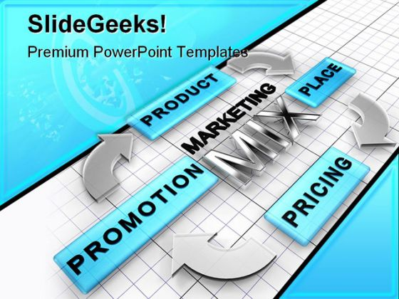 Marketing Mix Business Powerpoint Template 0510