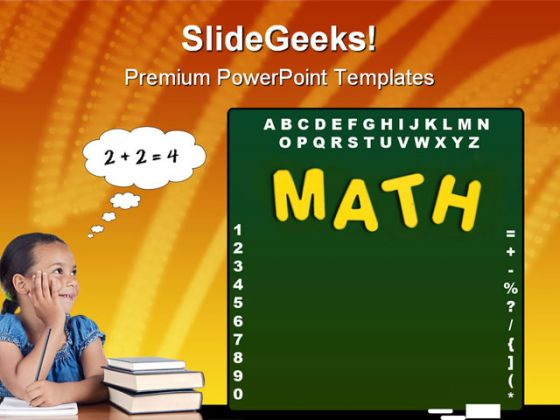 mathematics concept education powerpoint backgrounds and templates, Modern powerpoint
