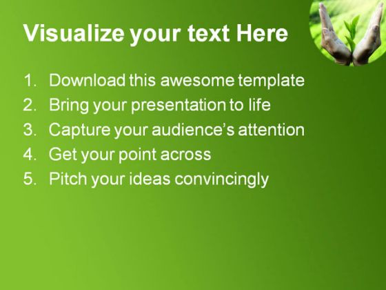 New Life Nature PowerPoint Template 0910