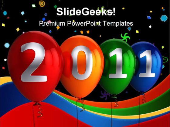 New Year 2011 Abstract PowerPoint Background And Template 1210