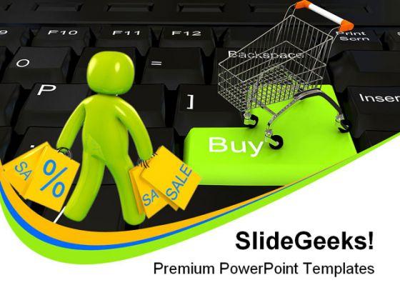 Online shopping people powerpoint template 0910 toneelgroepblik Images