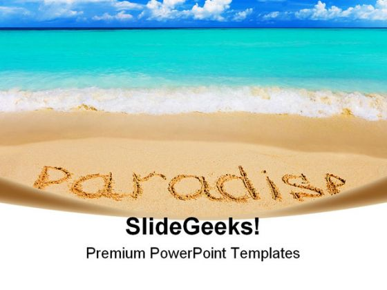 Paradise beach powerpoint backgrounds and templates 1210 toneelgroepblik Choice Image